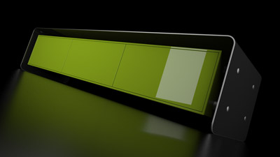 GHOSTDOG is a storage system made of MDF or solid wood, carbon fiber and stainless steel. Shiny bright green painted body, transparent painted carbon fiber clamp.